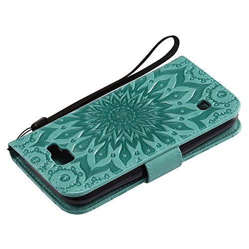 Für LG K3 Fall, Prägen Sonnenblume Magnetische Muster Premium Weiche PU Leder Brieftasche Stand Case Cover mit Lanyard & Halter & Card Slots ( Color : Rose Gold ) Green