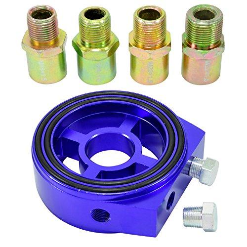Ölfilter Sandwich Adapter Platte 1/8 NPT Öltemperatur Sensor M18 M20 M22 3/4-16 -