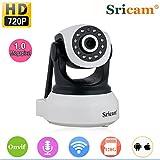 Sricam SP017 Videosorveglianza Telecamera IP Camera - HD 720P Wireless PT ONVIF Tecnologia P2P Visione Notturna Rilevamento Del Movimento Slot per Scheda SD