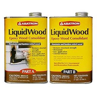 Abatron LiquidWood Epoxy Wood Consolidant, 2 Quart Kit, Part A & B by Abatron