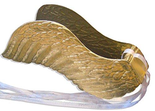 Design Gold Trim (Walter Kunze Design Dresden Party Engel Flügel, gold, L)