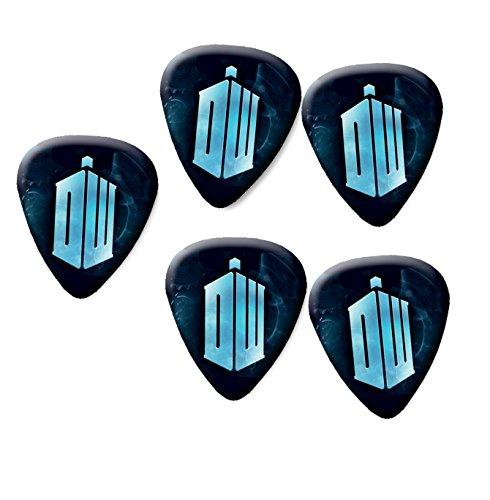Dr Who Tardis Gitarre Plektrum Plektrum Set von 5mittlere Stärke 0,71mm # 1