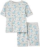 REDWAGON Jungen Zweiteiliger Schlafanzug, Grau, Grau (Grey), 110 (Herstellergröße: 5 Jahre)
