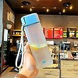 COKECO Bouteille d'Eau en Écologique sans BPA,PVCPlastique Anti Fuite Réutilisable...