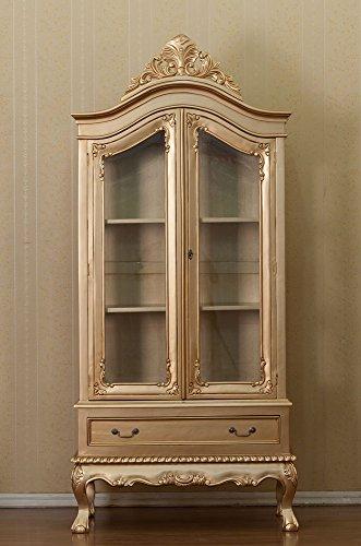 Armoire-baroque-ROCOCO-Vitrine-Armoire-Louis-XVI-couleur-dor-hhe198-cm-xbreite96-cm
