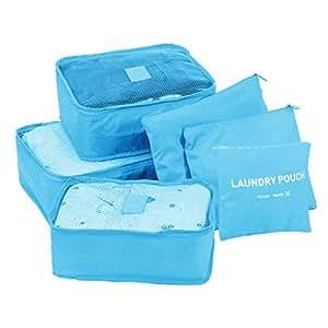Set impermeabile per 6/abiti-Borsa porta trucchi di borsa da viaggio light blue