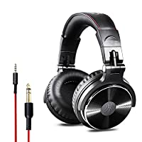 OneOdio Over Ear Headphones Closed Back Studio DJ Headphones for Monitoring, Adapter Free, Deep Bass, Noise Isolating Wired Headsets(Glossy Finish)