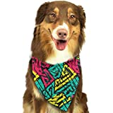 Hipiyoled Pet Bandanas Urban Spiral Seamless Pattern Adjustbable Collars Pet Bandana Bibs for Puppy Cats