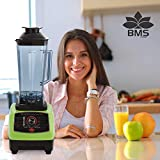 BMS Lifestyle 2200 W Copper Bar Professional Milk Shakes Smoothies Blender (Black and Green)