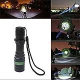 Coquimbo 3000 Lumen Zoomable XM-L Q5 LED Flashlight Torch Adjustable Focus Super Bright Torch Light Bild 1