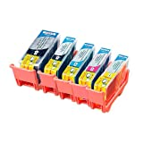 iColor Premium-Marken-Patronen: ColorPack CANON (ersetzt PGI-525BK/CLI-526BK/C/M/Y), mit Chip (Multipacks kompatible Druckerpatronen für Tintenstrahldrucker, Canon)
