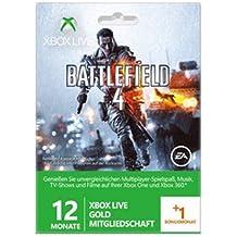 Xbox Live Gold 12+1 Monate Prepaidkarte Battlefield 4