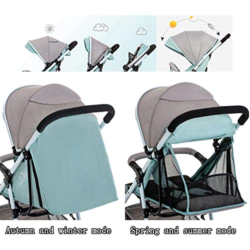 Folding Stroller, Lightweight Stroller,Compact Travel Buggy,One Hand Foldable,Five-Point Harness,Great for Airplane (Pink)