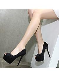 GTVERNH-Women S Escarpins Femme Cheville Fashion L Automne Les Chaussures  14Cm Chaussures Le Soir Avec Une Amende Imperméable… 8e3c5f659c6a