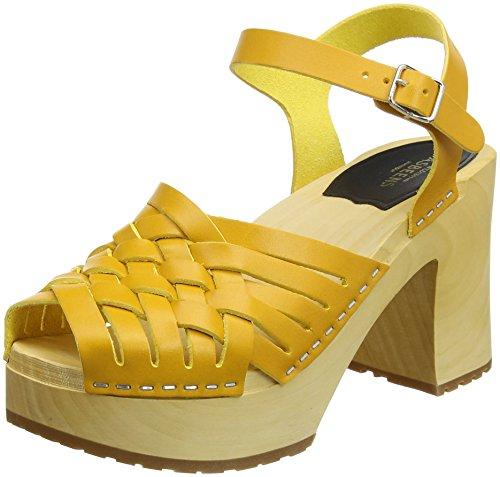 Swedish Hasbeens Damen Gullan Clogs, Gelb (Warm Yellow Warm Yellow), 36 EU