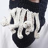 Tentakel Octopus Cthulhu Strickmütze Winddicht Bart Ski Maske Hut , Black