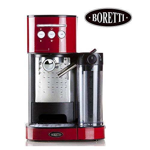 Edle Design Espressomaschine mit integriertem Milchaufschäumer + Aromakontrolle | Porta-Filter |...