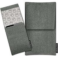 SIMON PIKE Samsung Galaxy S8+ Filztasche Case Hülle 'Sidney' in elefantengrau 11, passgenau maßgefertigte Filz Schutzhülle aus echtem 100% Natur Wollfilz, dünne Tasche im schlanken Slim Fit Design für das Galaxy S8+