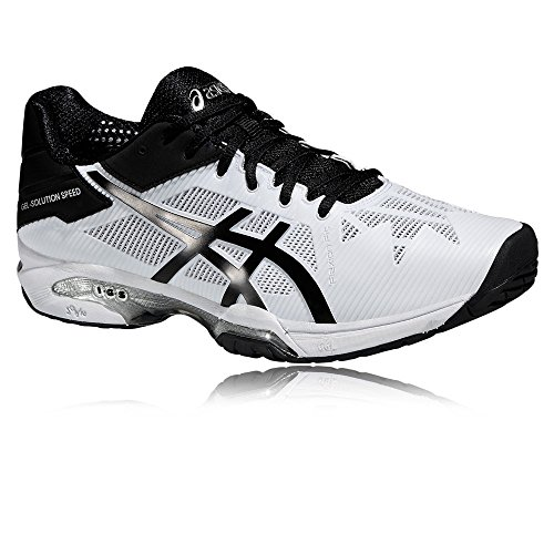 Asics Gel-Solution Speed 3, Chaussures de Tennis Homme Gris (Aluminum/Electric Blue/White)