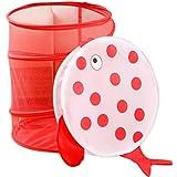 yiyo poliéster Cartoon Animal redondo malla barriles Cestas para colada Caja de almacenamiento cesta de almacenamiento para juguetes ropa