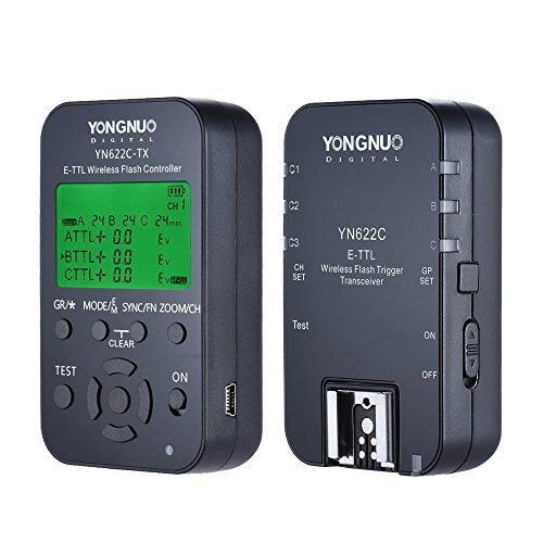 Yongnuo yn622C-kit Kabellose Fernbedienung 100M E-TTL Flash Trigger Transceiver Paar KIT für Canon EOS Serie DSLRs Wireless Flash Trigger Kit