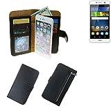 Portemonnaie Schutz Hülle für Huawei Y6Pro LTE, schwarz