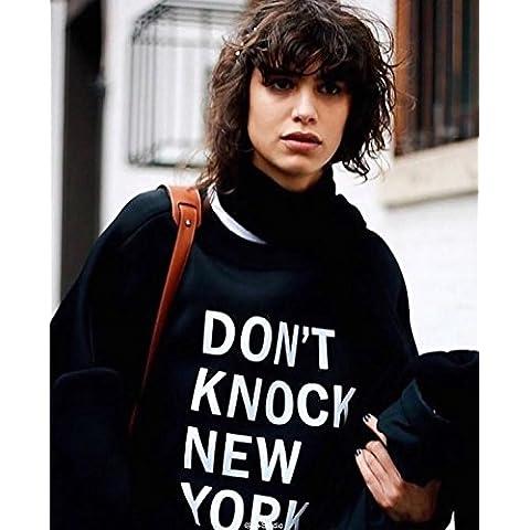 XJoel punto solida giacca casual caldo sottile felpa con cappuccio a maniche lunghe termica non perdere (dimensione)