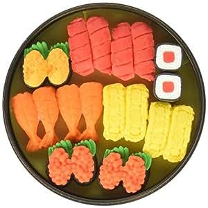 Iwako Sushi Bento Situé dans rondes en plastique cas Gommes japonaises