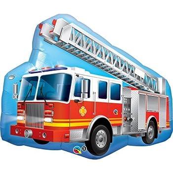Camion de pompiers Fleuret Géant Ballon (dégonflé)