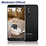 Günstiges Smartphone, Blackview A10 2GB RAM + ROM 16GB Dual SIM Handy 5.0 Zoll HD IPS Touch Display Andorid Smartphone, 5MP + 8MP Cameras Android 7.0 mit 2800 mAh Battery, Fingerabdruck Handy-Schwarz