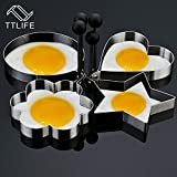 round shape : TTLIFE Super Hot! Creative Stainless Steel Pancake Mold Mold Ring Cooking Fried Egg Shaper Kitchen Tools