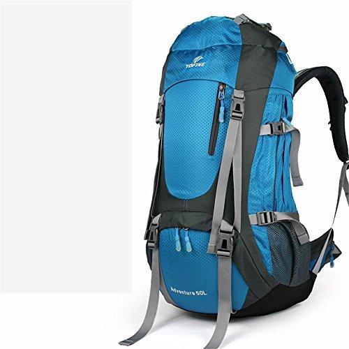 ALUK-Im Freienberg Rucksack Doppel-Schultergurt atmungsaktive wasserdichte Bergsteigen Taschen verdickt Blau