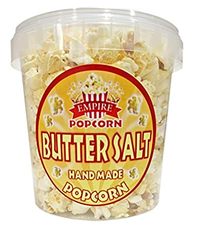 Delicious Gourmet Butter Salt Savoury Popcorn 1.2 Litre Tub from Empire Popcorn