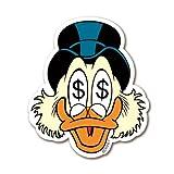 Imán de nevera Gil Pato - Imán de refrigerador Disney - magnet Uncle Scrooge - con forma - Diseño original con licencia - LOGOSHIRT