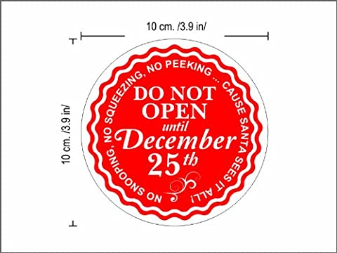 Christmas gift warp seals Pack of 24 pcs Do not open until CHRISTMAS Christmas gift tag labels