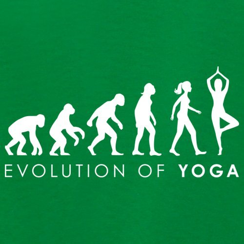 Evolution of Woman - Yoga - Damen T-Shirt - 14 Farben Grün