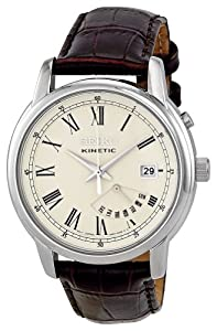 Reloj Seiko SRN033P1 de cuarzo para hombre con correa de piel, color marrón de Seiko