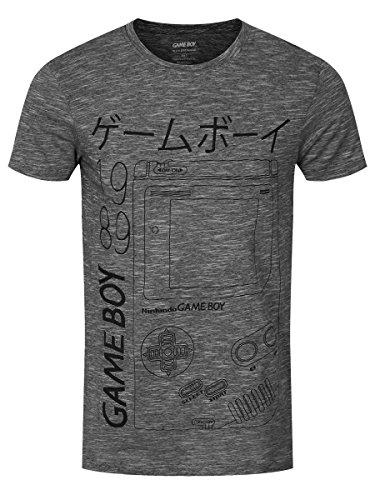 Nintendo Game Boy T-Shirt schwarz/weiß Schwarz/Weiß