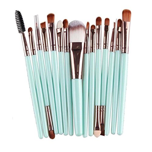 FEITONG 15 pcs maquillage outils Brush Set Fashion Lady Make-up Trousse de toilette en laine Brush Set