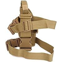 Shuzhen,Paquete de Pierna Militar táctico Funda para Arma de Mano de Hostler de Muslo Universal para: b(Color:Caqui)