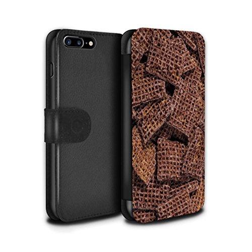 Stuff4 Coque/Etui/Housse Cuir PU Case/Cover pour Apple iPhone 7 Plus / Grahams de Cannelle Design / Céréale Collection Coco Shreddies
