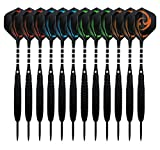 Dartpfeile, Waalvis 12 Stück Steel Darts Pfeile Set, 23 Gramm Profi Steeldarts