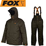 Fox Carp Winter Suit - Thermoanzug für Karpfenangler, Schneeanzug für Angler, Winteranzug zum Angeln im Winter, Thermo Zweiteiler, Größe:XXXL