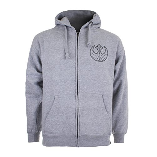 Star Wars Rebel Ships Icon, Sudadera con Capucha para Hombre, Gris (Grey Heather), Large