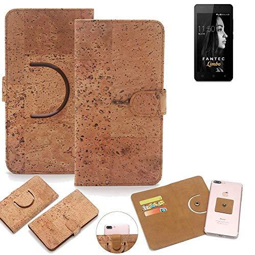 K-S-Trade Schutz Hülle für FANTEC Limbo Handyhülle Kork Handy Tasche Korkhülle Handytasche Wallet Case Walletcase Schutzhülle Flip Cover Smartphone