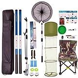 Angelrute Kit Set Novice Angelrute Ultralight Angelausrüstung Zubehör Angelausrüstung