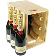 Moet and Chandon Champagne in Wooden Crate 75 cl (Case of 6)
