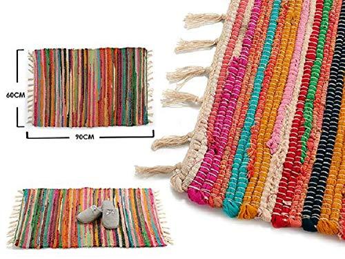 Dream Hogar Jarapa Alfombra Pack x2 Multicolor Algodon