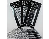 Skulls and Zippers Nail Art Stickers - 3 Pack (42 Total Nail Art Wraps) - Includes Black on White Skulls, White on Black Skulls, and Gray and Black Zippers in the Kit - Makes a Great Gift