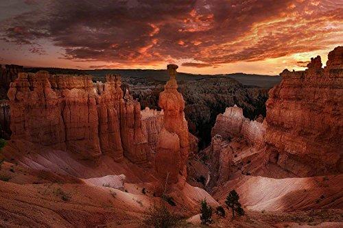 Wandbild auf Alu-Dibond. Thors Hammer im Bryce Canyon Nationalpark USA. Limited Edition. Auflage: 29 Stück. Galerie Fine Art Fotografie Print auf Aludibond. Kunst Wanddeko Wand Foto Bild